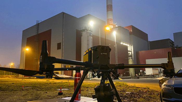 SkyeBase zet drone in voor inspectie rookgaskanalen en warmtenet ISVAG